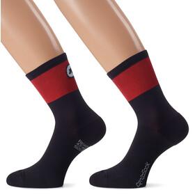 assos CentoSock_Evo8 Cycling Socks Unisex red/black